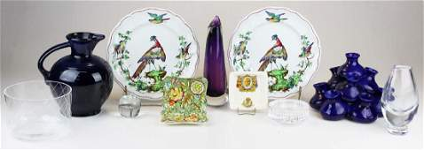 group of glass and china incl. Waterford, Fiesta