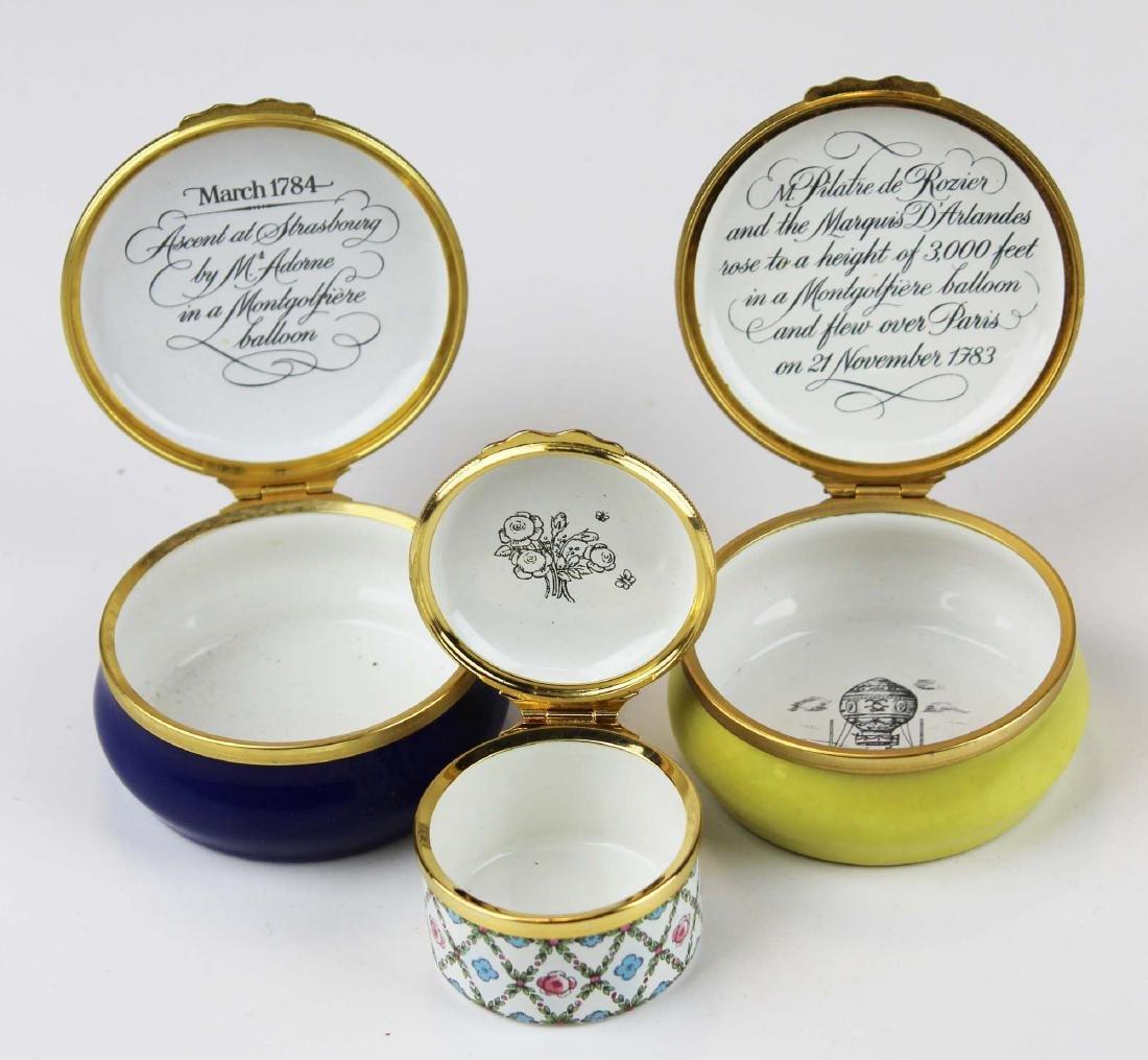 lot of porcelain dresser and enamel pill boxes - 3