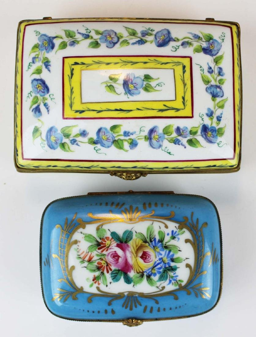 lot of porcelain dresser and enamel pill boxes - 6