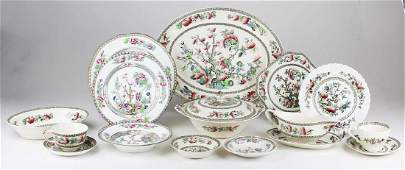 77 pcs. Indian Tree pattern china dinnerware