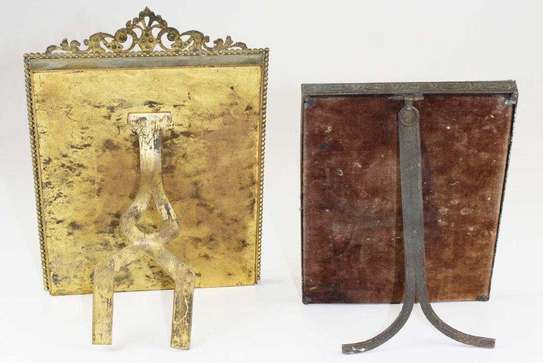 two gilt brass jeweled frames - 4