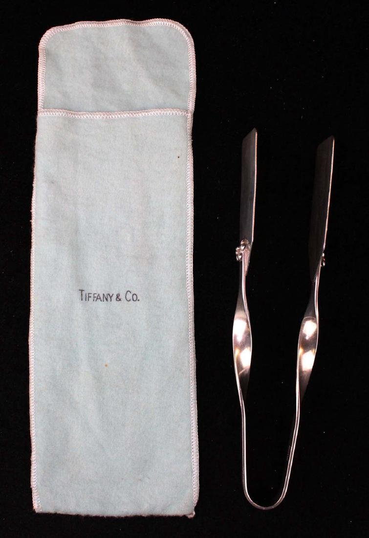 pair of mid-century sterling silver tongs - 2