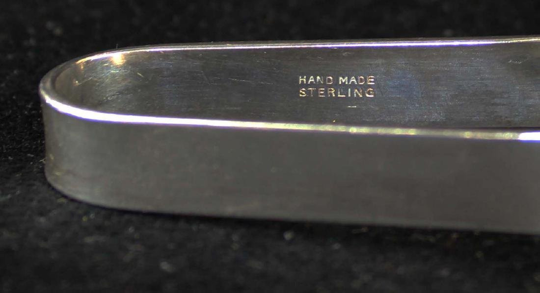 pair of mid-century sterling silver tongs - 4