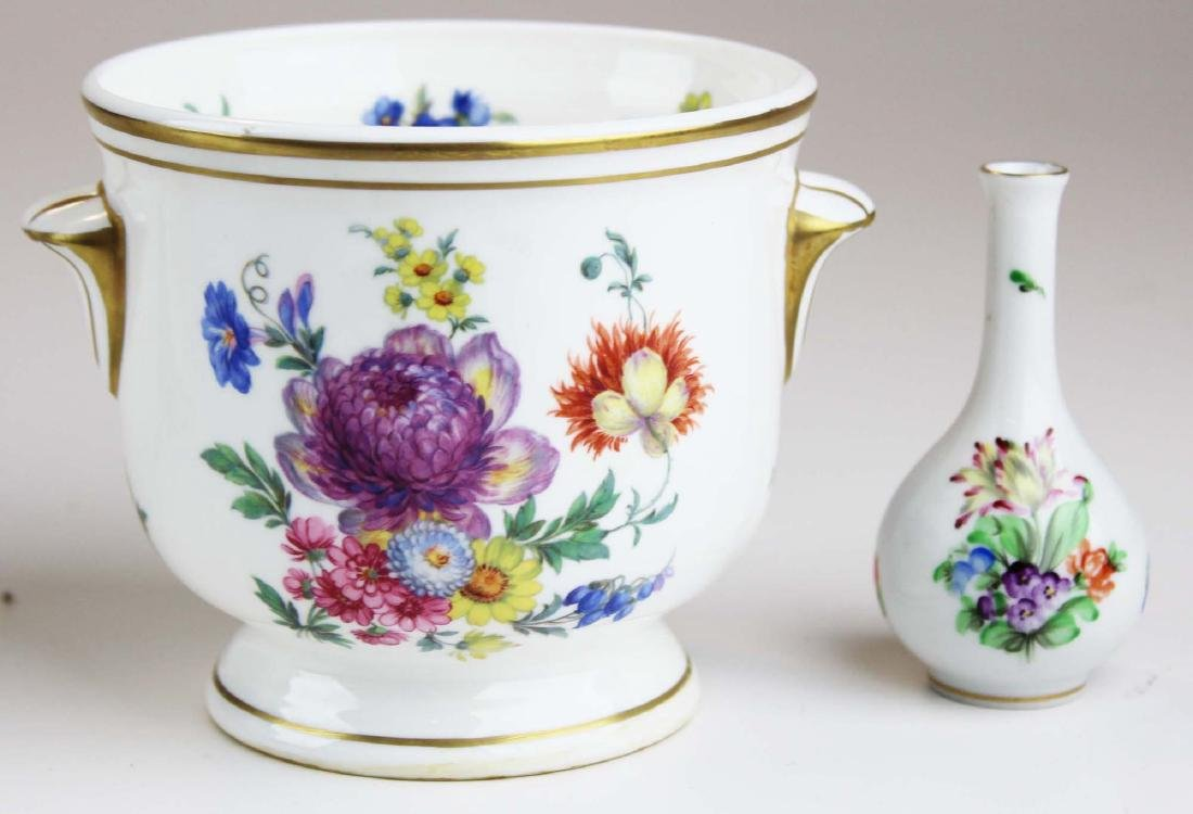 group of mixed porcelain and glass incl. Belleek - 3