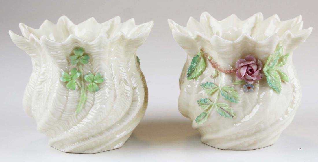 group of mixed porcelain and glass incl. Belleek - 4