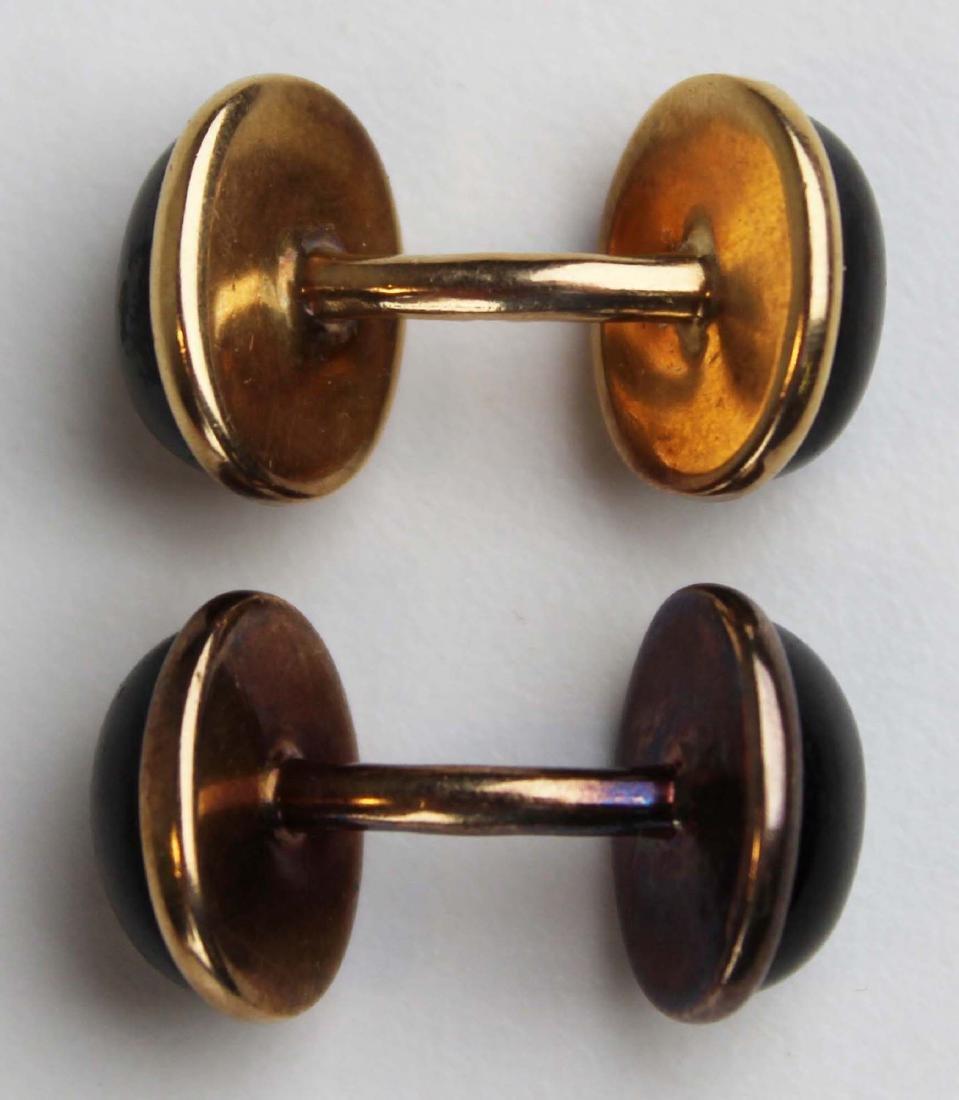 14K gold cufflinks - 3