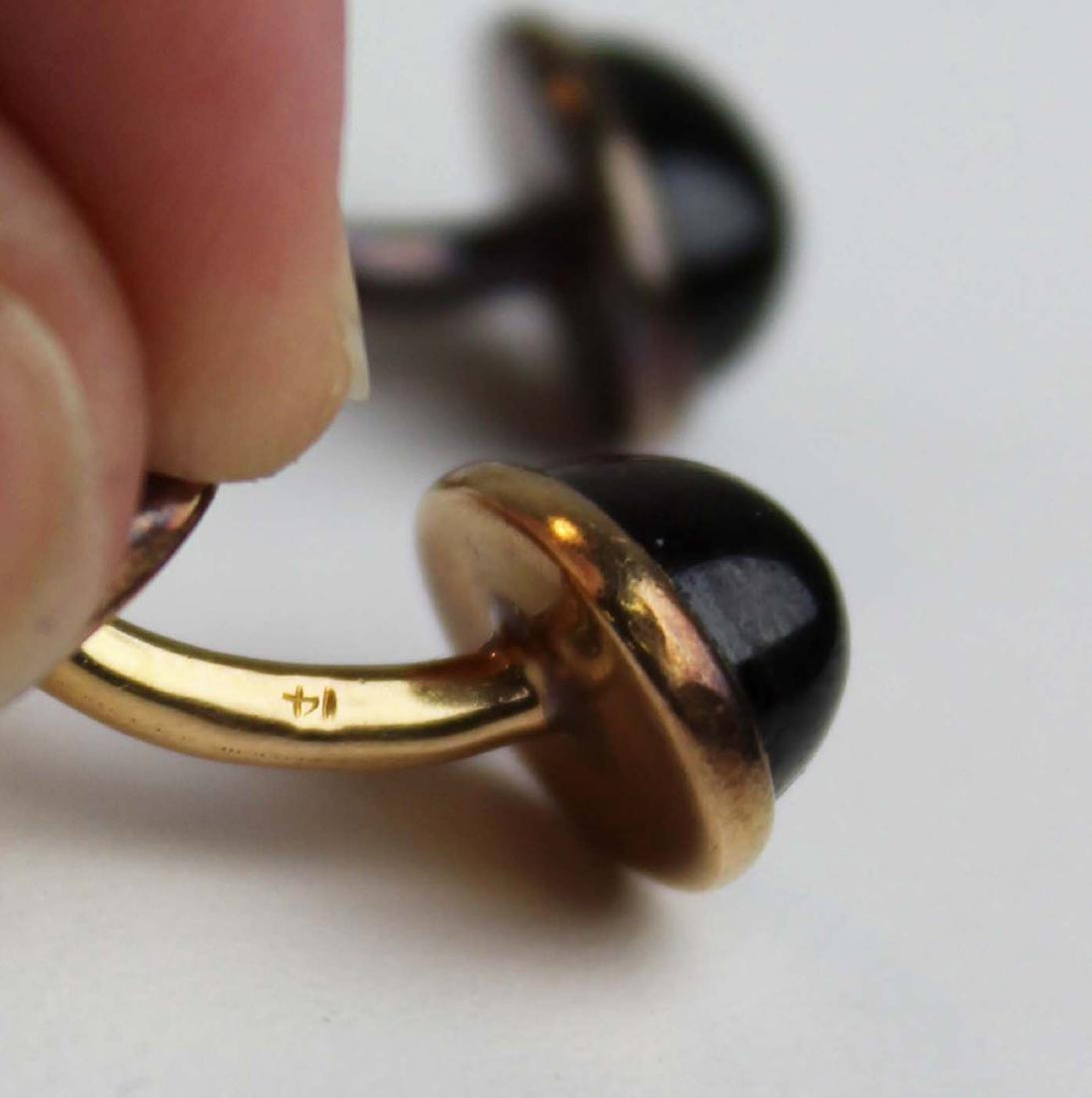 14K gold cufflinks - 8