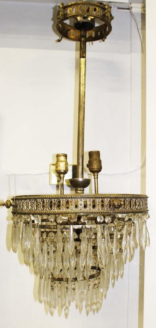5 tier glass prizmed wedding cake chandelier