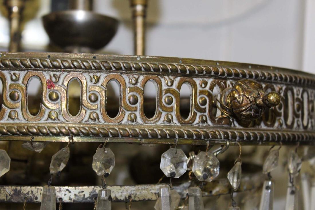 5 tier glass prizmed wedding cake chandelier - 2