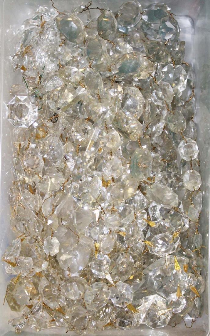 5 tier glass prizmed wedding cake chandelier - 6