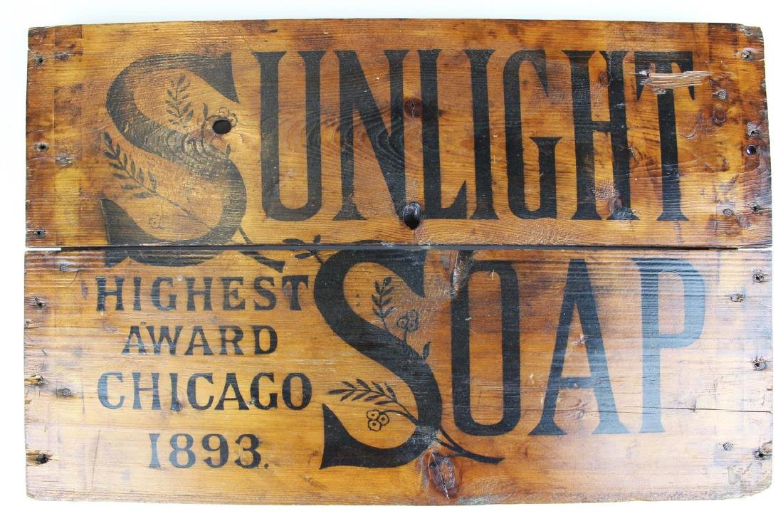 Sunlight Soap box crate panel