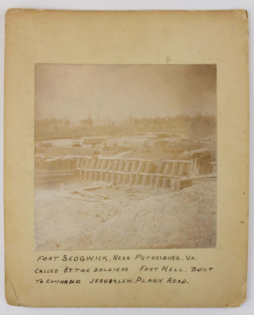 rare 1864 CW Ft Sedgwick albumen photo