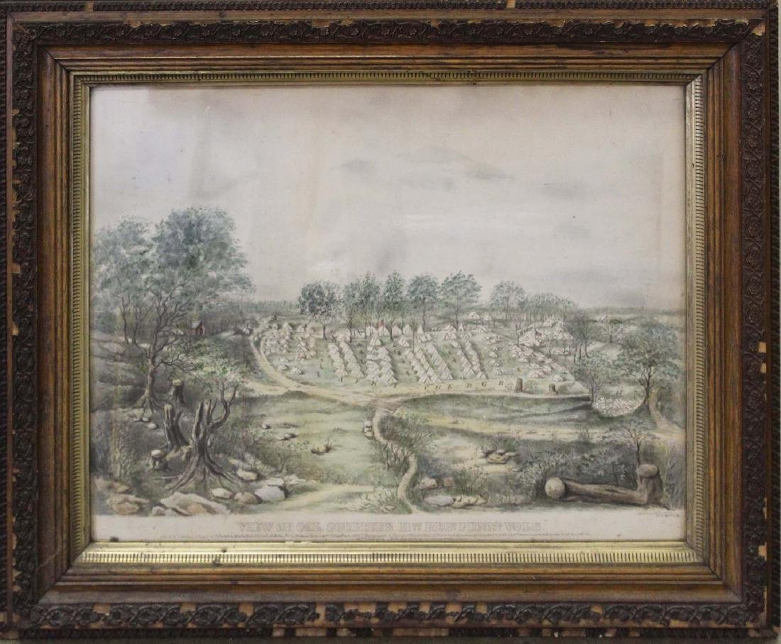 1863 Civil War 11th PA encampment w/c