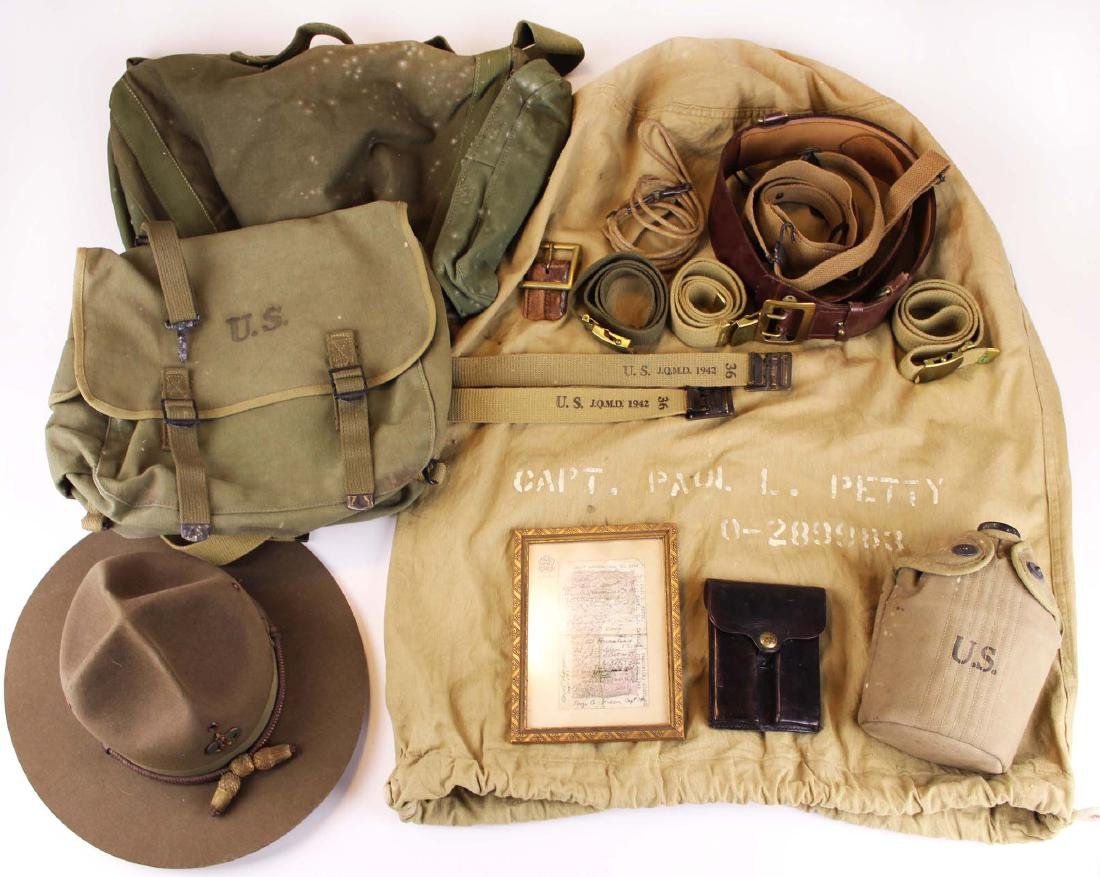 WWII Era Accessories owned by Capt Paul Petty