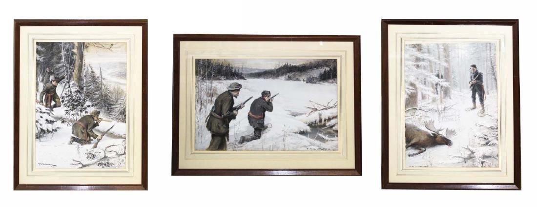 Frederick Simpson Coburn (CA 1871-1960) Moose Hunters