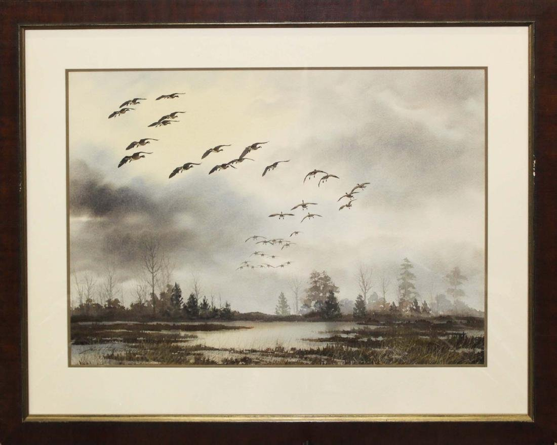 David Hagerbaumer (Am 1921-2014) Canadian Geese in