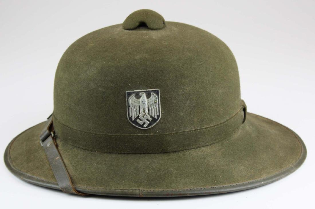 WWII Nazi German green tropical pith helmet