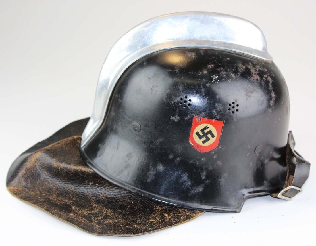 WWII Nazi German fireman's helmet