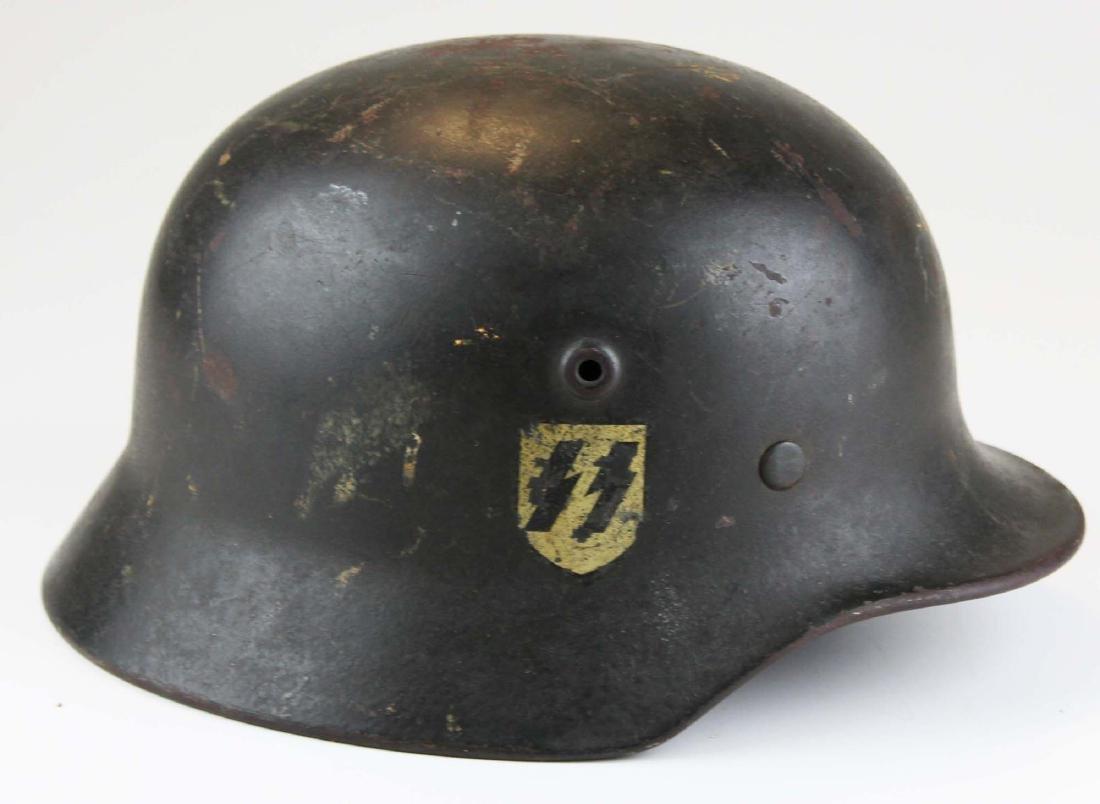 WWII Nazi German M42 SS helmet