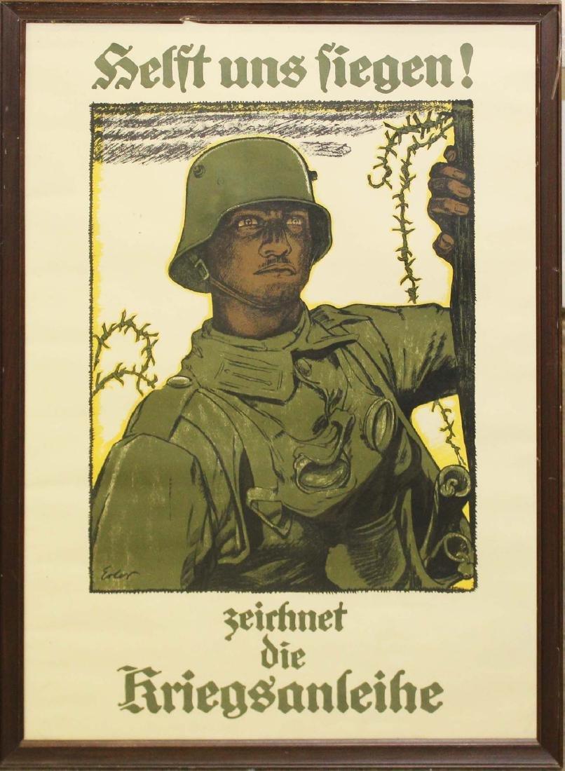 WWI German propaganda poster
