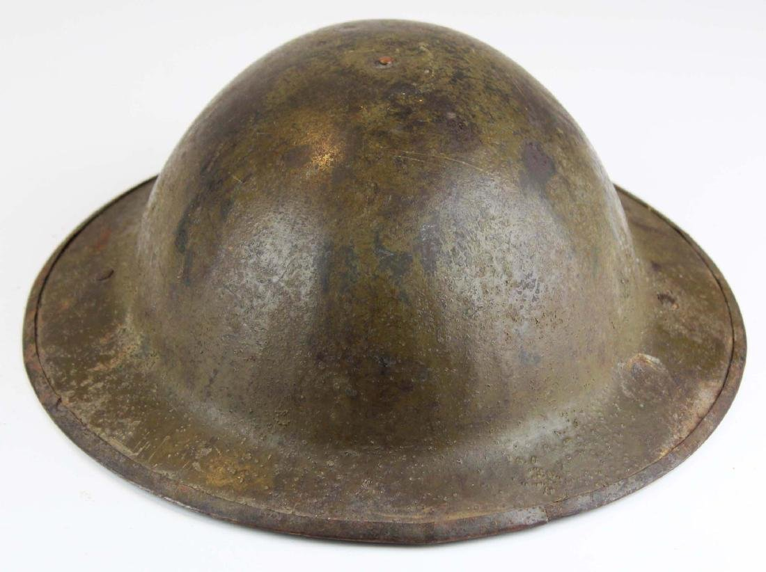 WWI signed doughboy trench helmet - 2