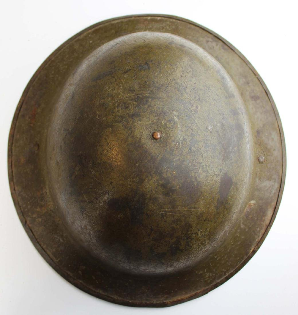 WWI signed doughboy trench helmet - 3