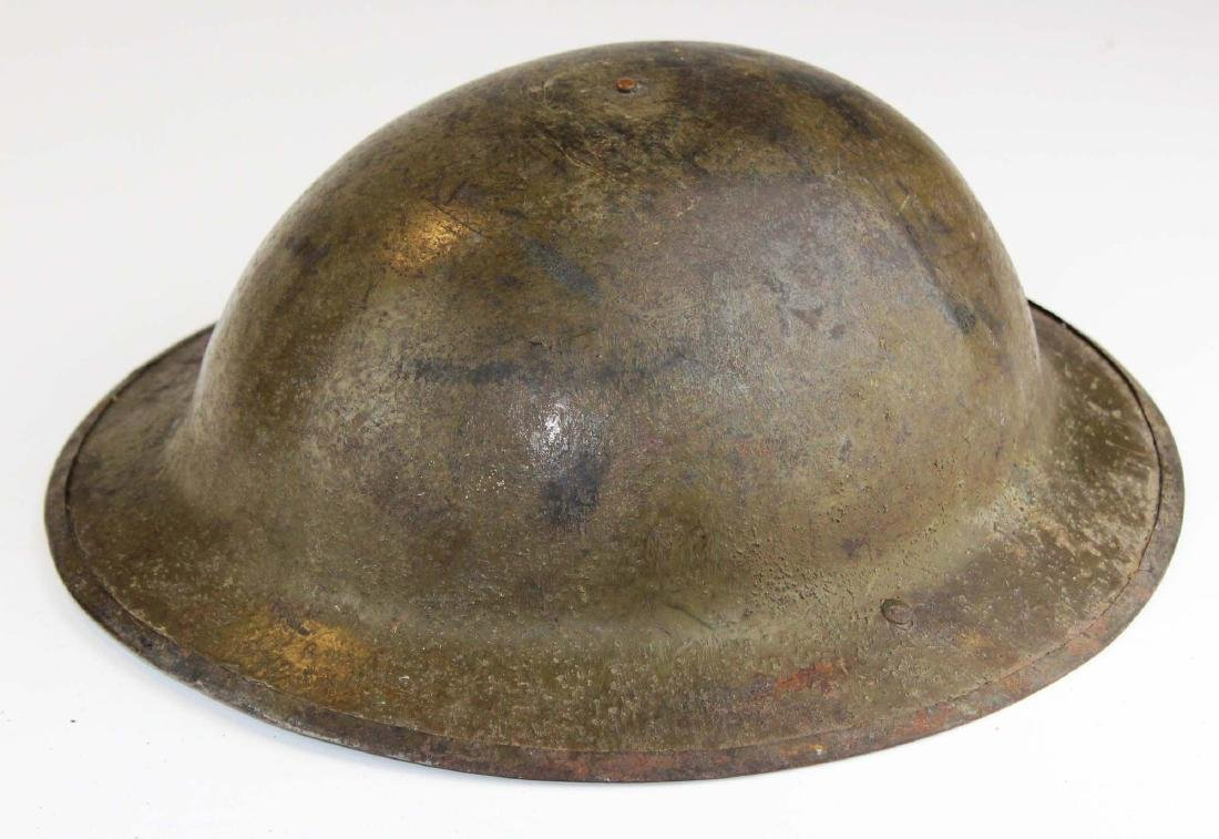WWI signed doughboy trench helmet - 4