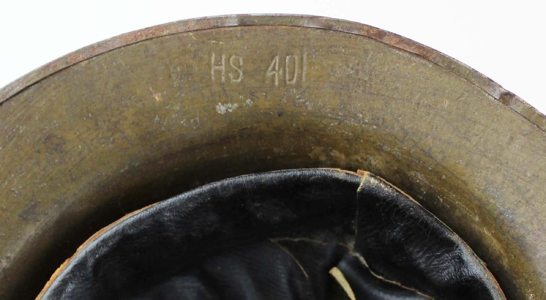 WWI signed doughboy trench helmet - 6