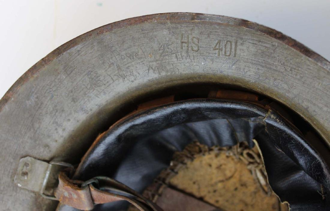 WWI signed doughboy trench helmet - 7