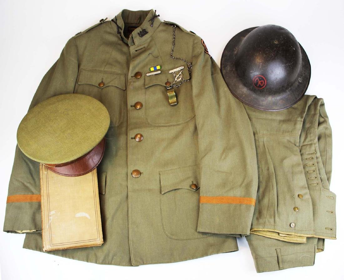 WWI uniform, helmet, hat, & accessories