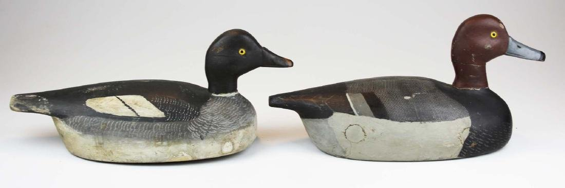 Rig mate pair of Ontario Canvasback decoys