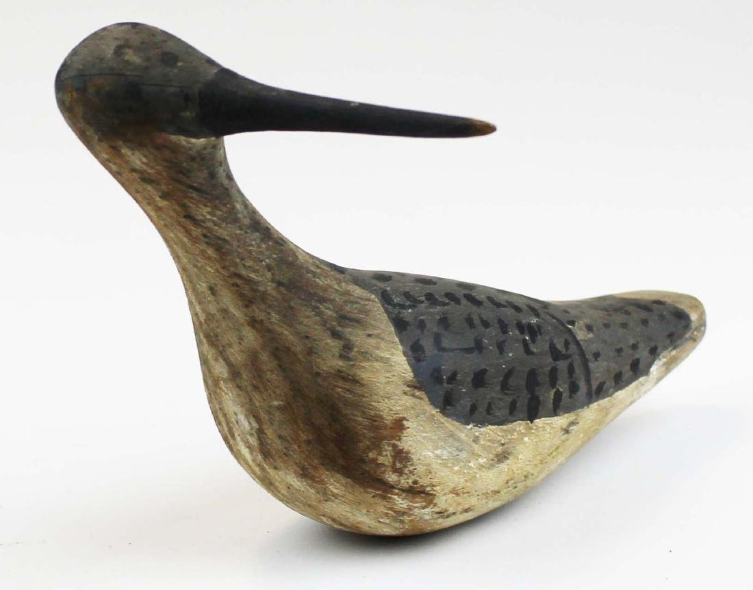 Turned head snipe shore bird decoy.