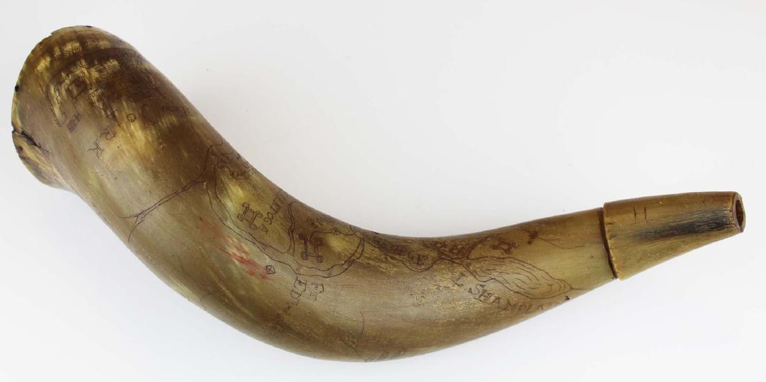 1758 Simeon Stearns NY forts powder horn