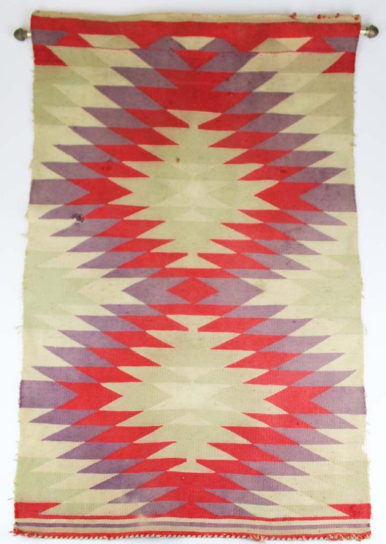 ca 1900 Navajo Germantown saddle blanket