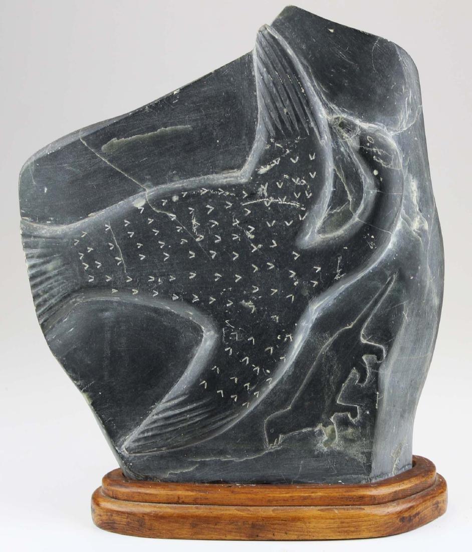 late 20th c Nunavik, Arctic Quebec carving