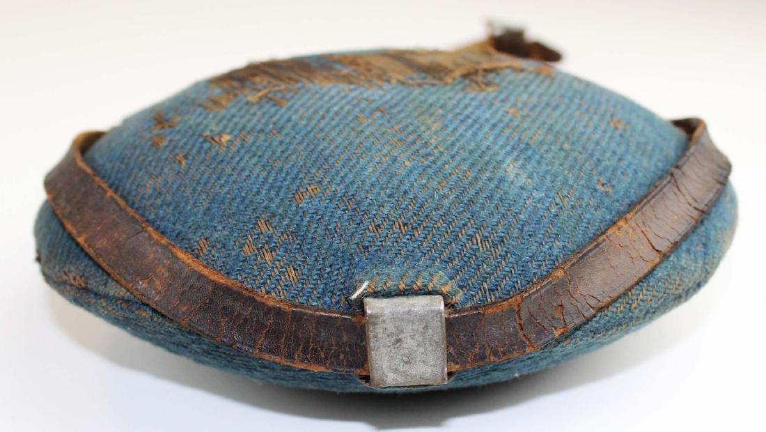 Civil War era blue cloth-covered canteen - 4