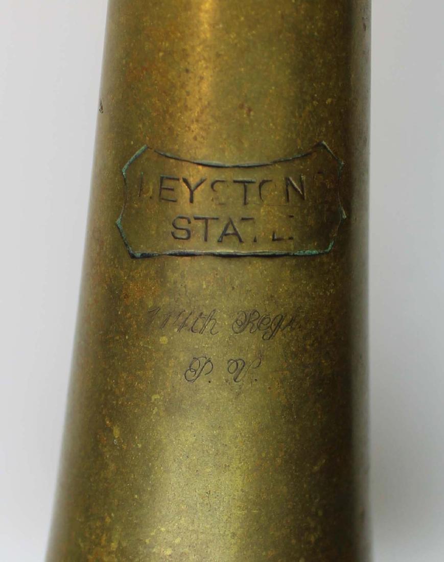marked 114th Regt P.V. Keystone State bugle - 10