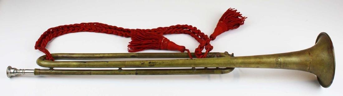 marked 114th Regt P.V. Keystone State bugle - 3
