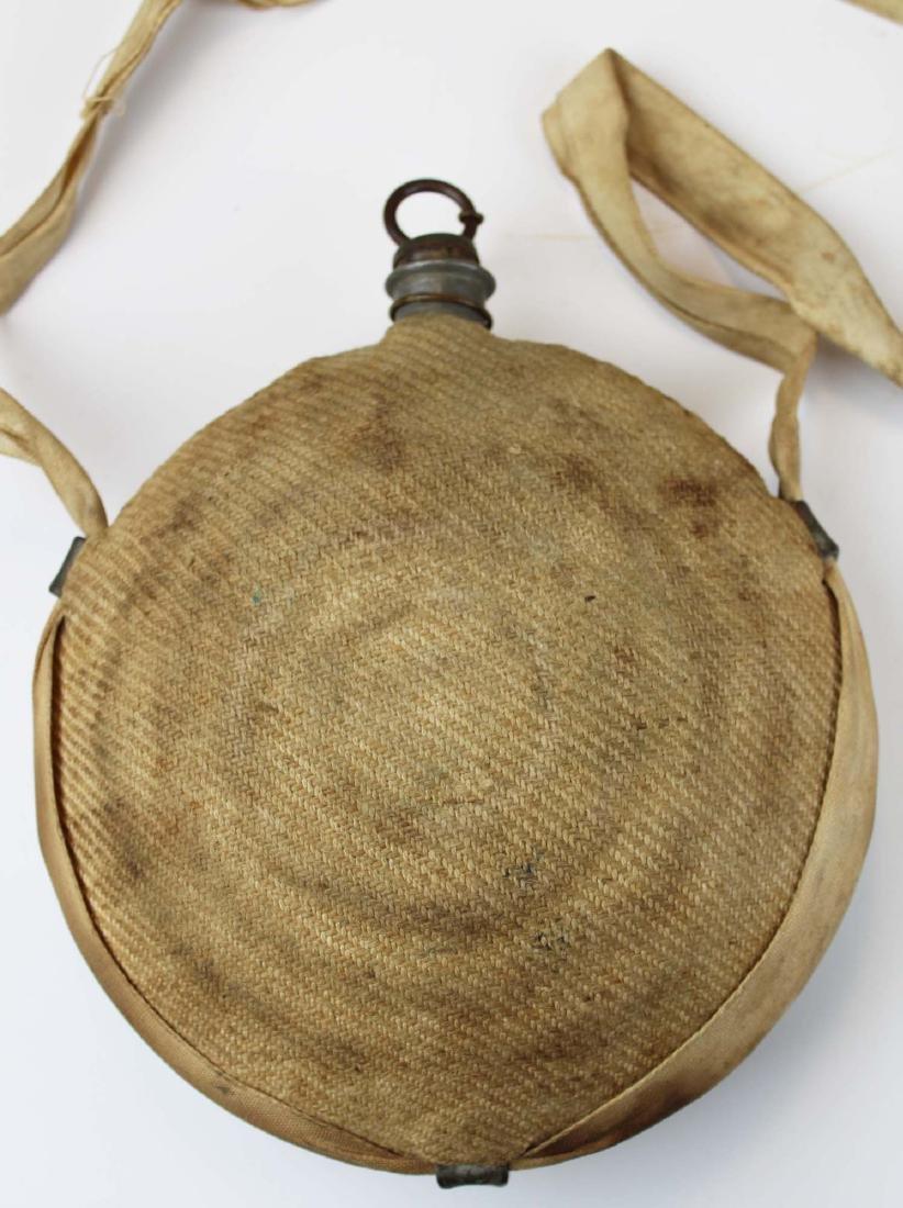 Civil War era cloth-covered bullseye canteen - 3