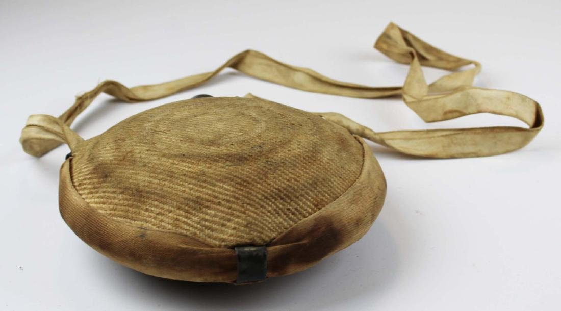 Civil War era cloth-covered bullseye canteen - 4