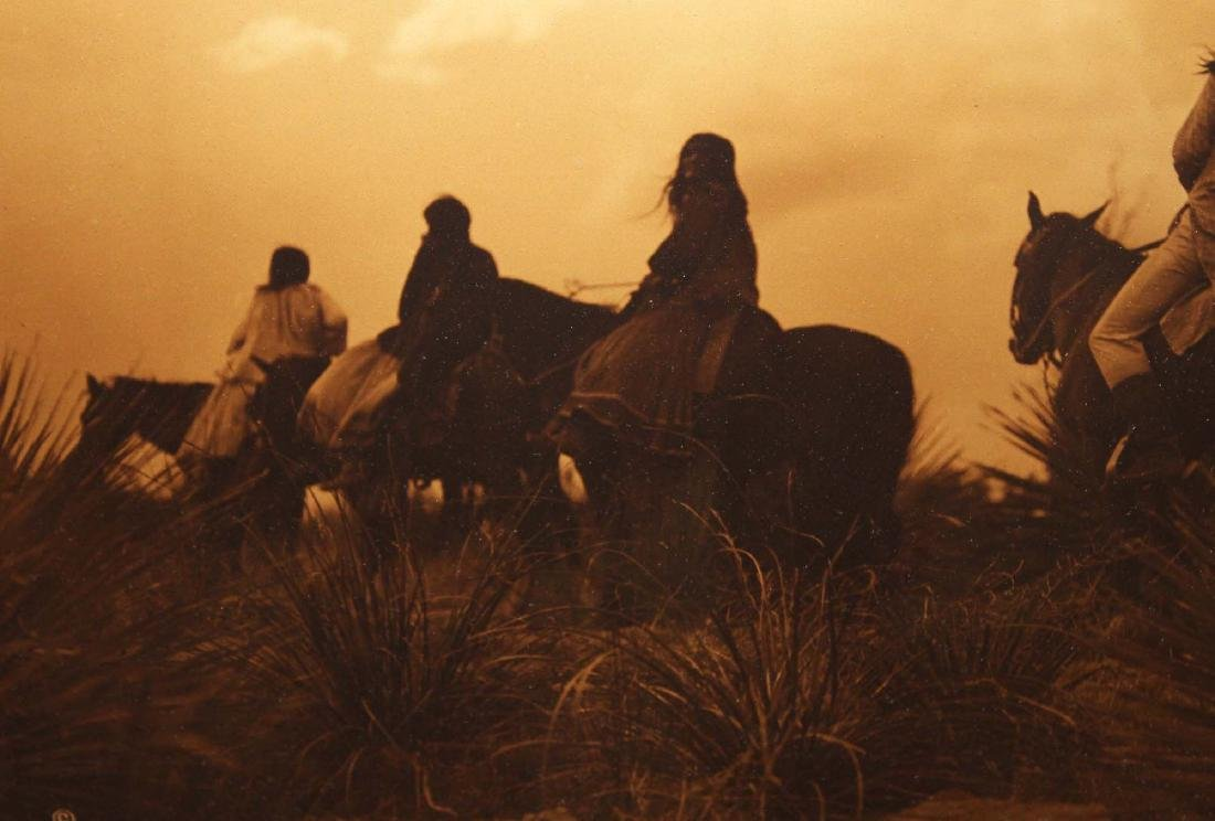 Edward S Curtis (Am 1868-1952) The Storm gold orotone - 3