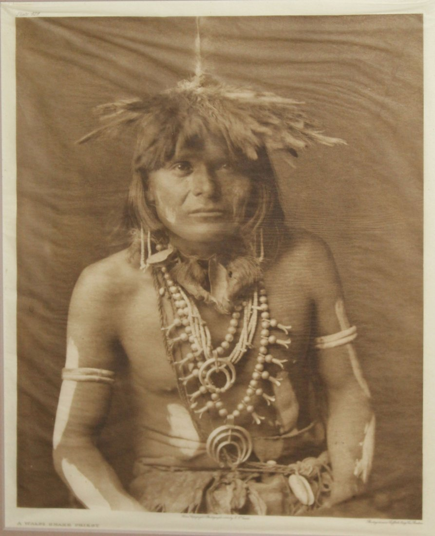 Edward S Curtis (AM 1868-1952) Walpi Snake Priest