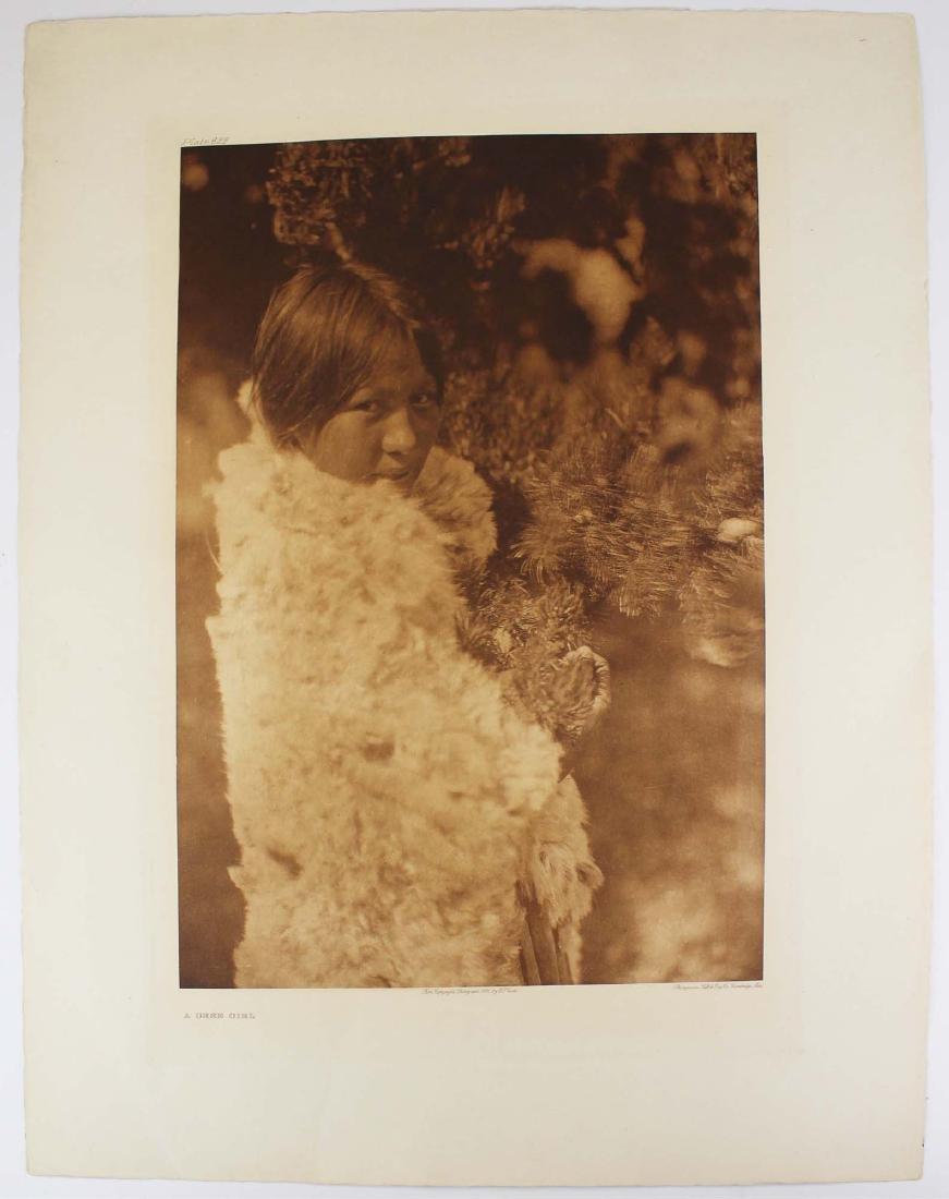 Edward S Curtis (AM 1868-1952) A Cree Girl