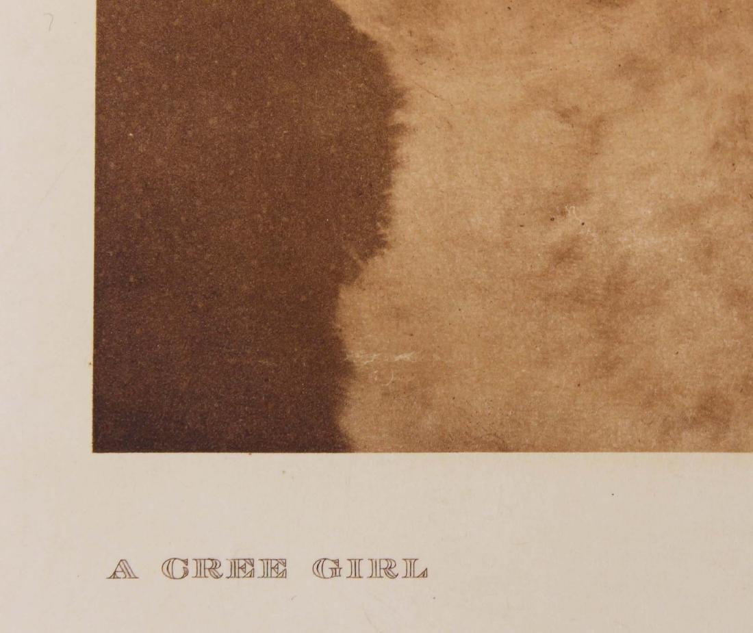 Edward S Curtis (AM 1868-1952) A Cree Girl - 3
