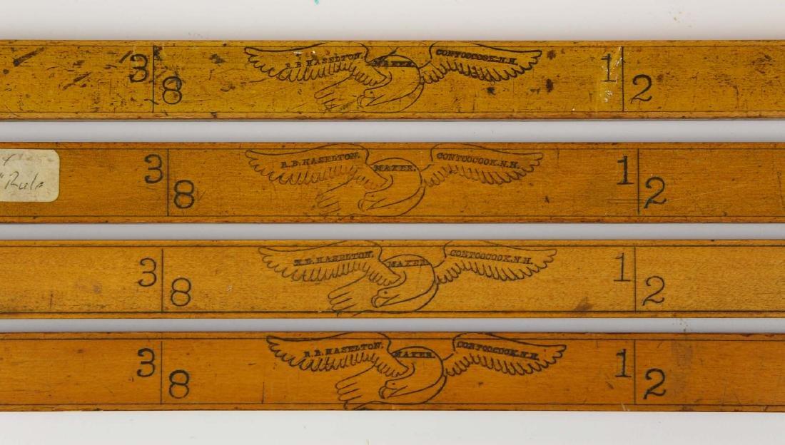 four R B Haselton, Contoocook, NH yardsticks