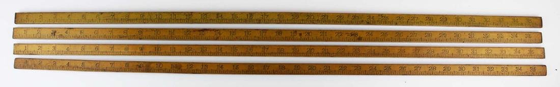 four R B Haselton, Contoocook, NH yardsticks - 5