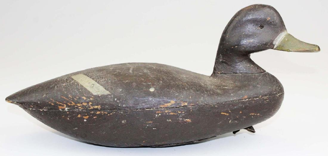 Primitive Quebec hollow body blue bill decoy