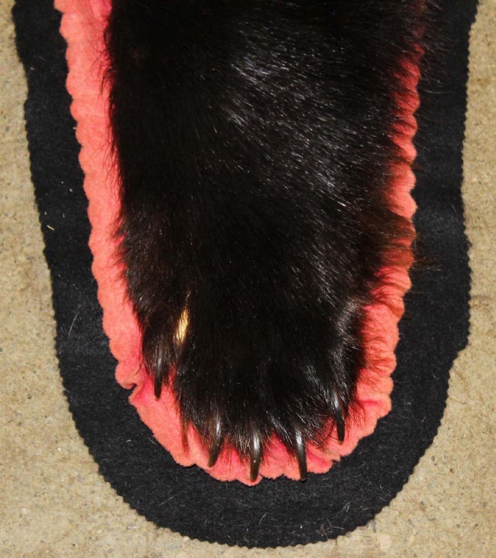 5 ft black bear skin rug - 4