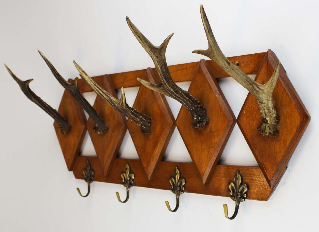 turn of the century deer horn coat rack