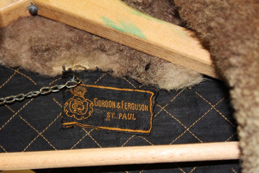 Vintage 1905 light colored buffalo robe coat - 2